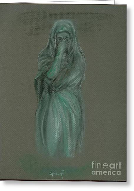 Sorrow Pastels Greeting Cards - Grief Greeting Card by Christine Jepsen