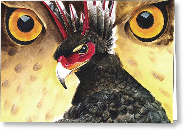 """""""storm Prints"""" Mixed Media Greeting Cards - Griffin Sight Greeting Card by Melissa A Benson"""