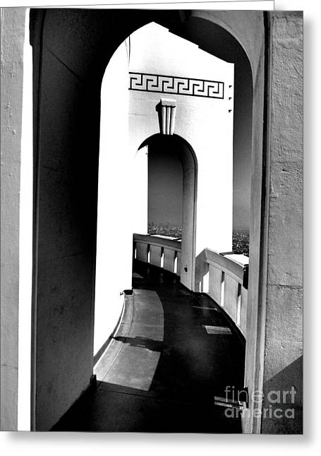 Recently Sold -  - ist Photographs Greeting Cards - Griffith Observatory Arch Greeting Card by RJ Aguilar