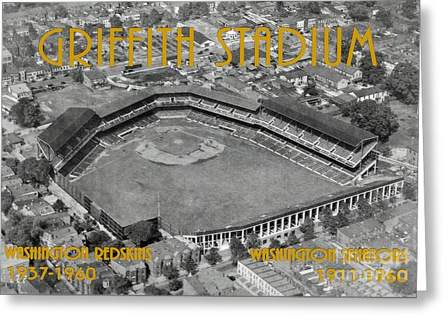 Washington Dc Baseball Greeting Cards - Griffith Stadium Greeting Card by Jost Houk