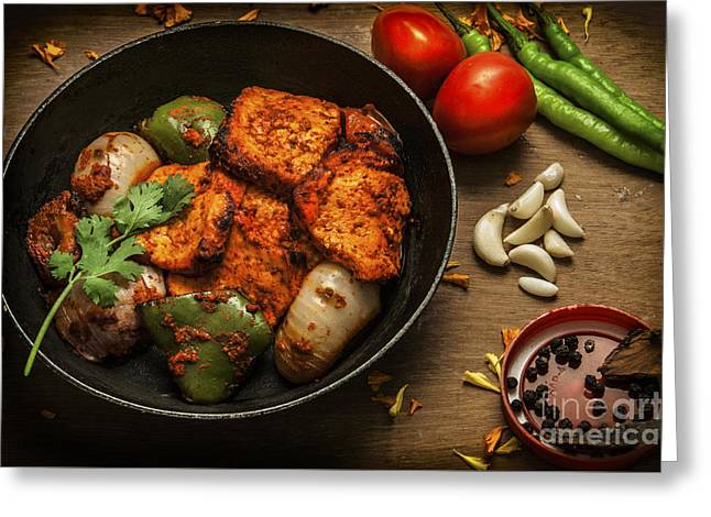 Chilies Greeting Cards - Grilled Paneer Tikka Greeting Card by Charuhas Images