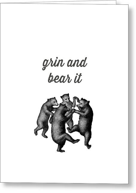 Grin And Bear It Greeting Card by Edward Fielding