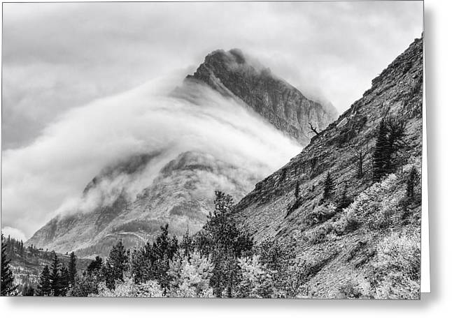 Grinnel Point Black And White Greeting Card by Mark Kiver