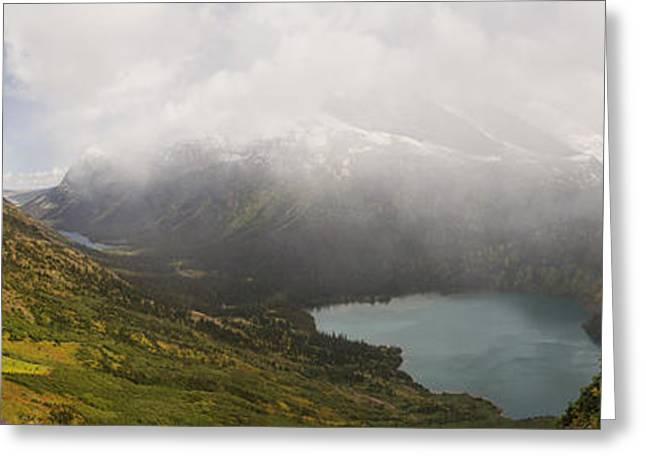 Grinnell Glacier Trail Panorama Greeting Card by Mark Kiver