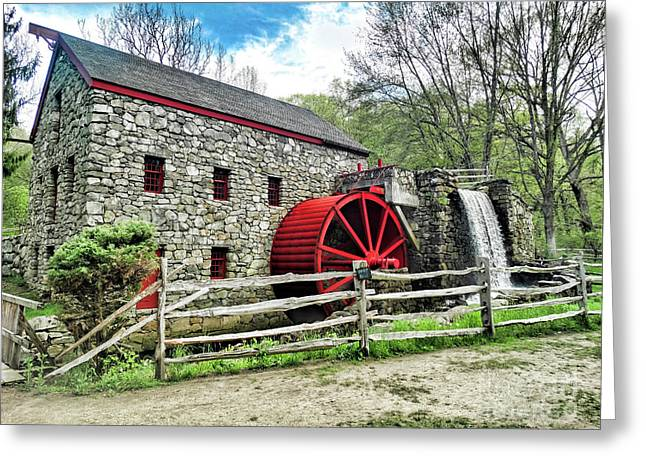 Grist Mill Greeting Card by Bill Dussault