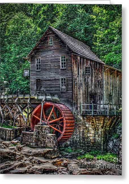 Old Mill Scenes Digital Greeting Cards - Grist Mill Greeting Card by Dan Stone