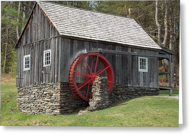 Grist Mill Greeting Cards - Grist Mill in Vermont Greeting Card by Catherine Gagne