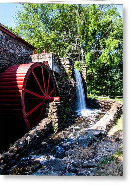 Sudbury Ma Photographs Greeting Cards - Grist Mill Greeting Card by Joel Fernandez
