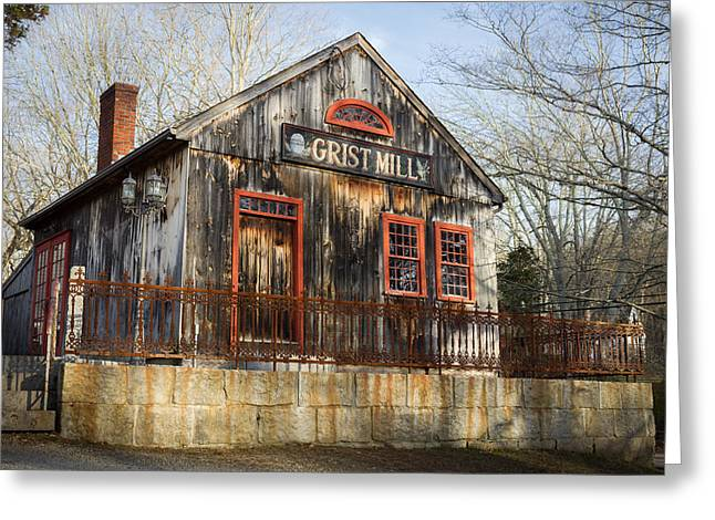 Grist Mill Greeting Cards - Grist Mill Greeting Card by Kirkodd Photography Of New England