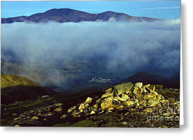 Temperature Inversion Greeting Cards - Grizedale Pike. Greeting Card by Stan Pritchard