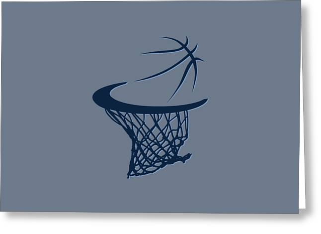 Sweat Greeting Cards - Grizzlies Basketball Hoop Greeting Card by Joe Hamilton