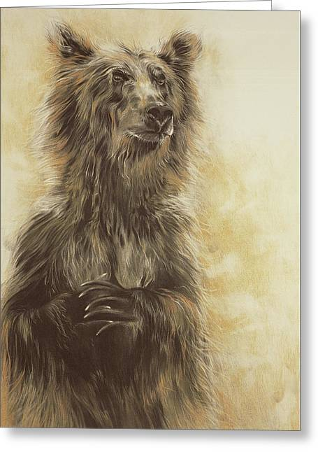 Grizzly Bear Greeting Card by Odile Kidd