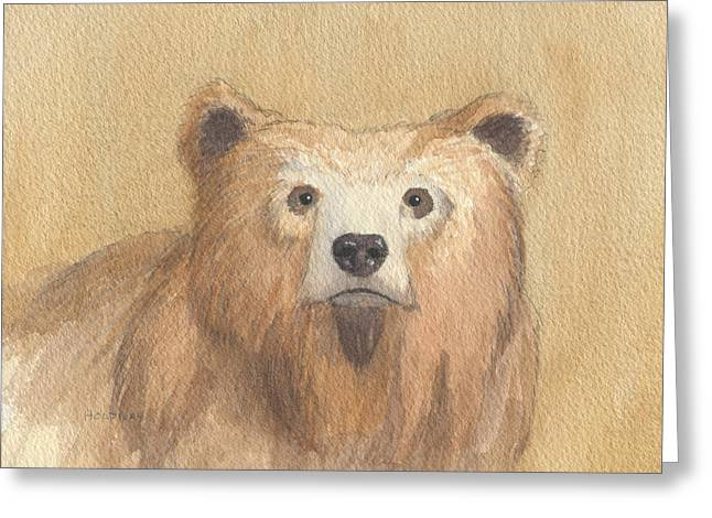 Grizzly Greeting Card by John Holdway