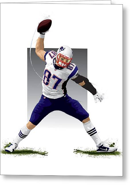 Nfl Digital Art Greeting Cards - Gronk Greeting Card by Scott Weigner