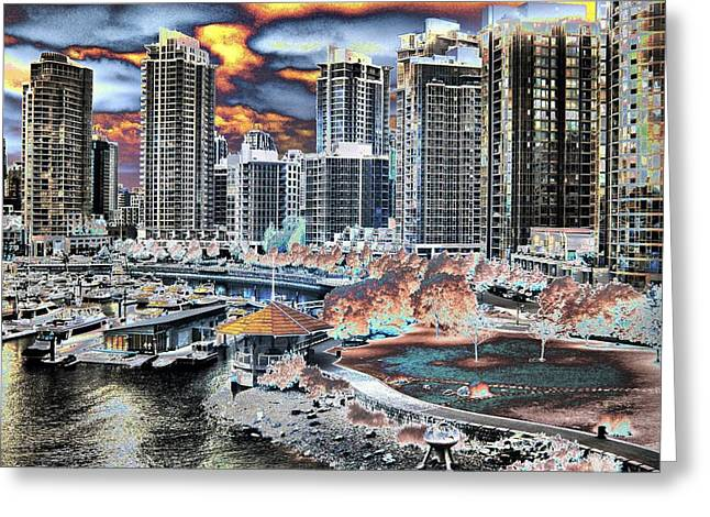 Oddball Greeting Cards - Groovy Vancouver Greeting Card by Bill Kellett