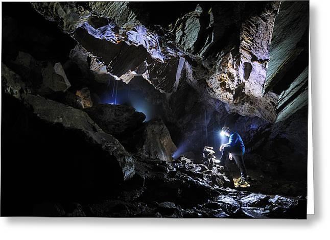 Miner Greeting Cards - Grotta Del Pugnetto Greeting Card by Marco Barone
