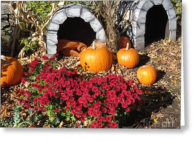 Festivities Greeting Cards - Grottes dHalloween // Halloween Grottos Greeting Card by Dominique Fortier