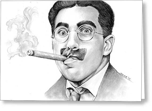 Groucho Greeting Card by Greg Joens