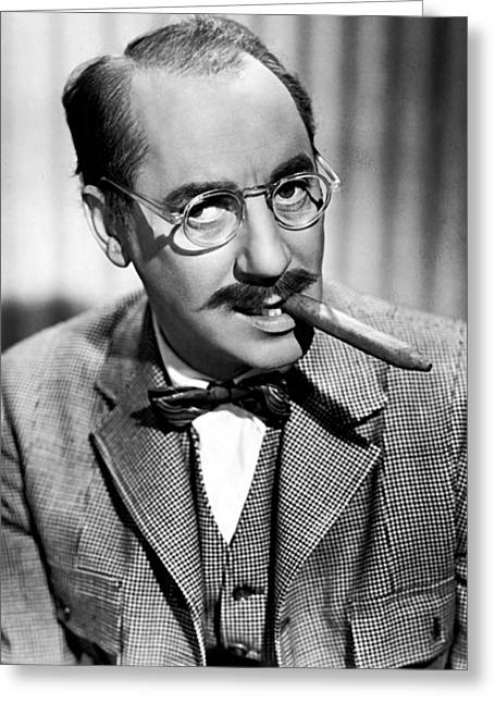 Marx Greeting Cards - Groucho Marx 1940s Greeting Card by Abc