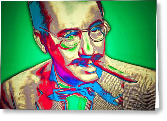 Groucho Marx 20151218 Square Greeting Card by Wingsdomain Art and Photography