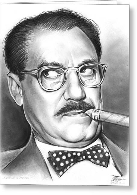 Groucho Marx Greeting Card by Greg Joens