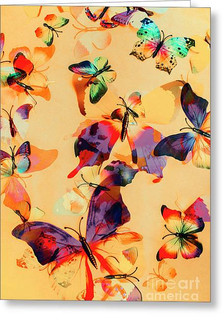 Group Of Butterflies With Colorful Wings Greeting Card by Jorgo Photography - Wall Art Gallery
