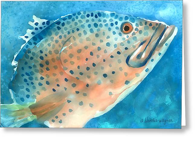 Grouper Greeting Cards - Grouper Greeting Card by Arline Wagner