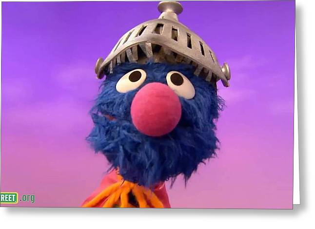 Grover Greeting Card by Sesame Street