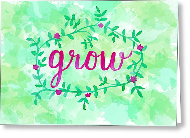Grow Watercolor Greeting Card by Michelle Eshleman