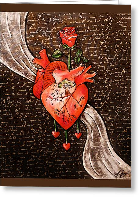 Growing Heart Greeting Card by Jennifer Page