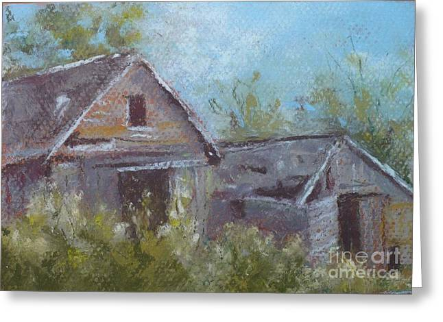 Old Barn Pastels Greeting Cards - Growing Old Together Greeting Card by Grace Goodson