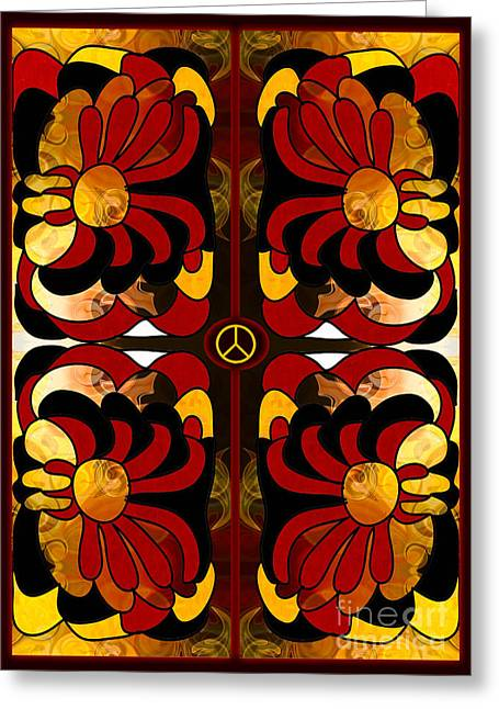 Growing Peaceful Ideas Abstract Bliss Art By Omashte Greeting Card by Omaste Witkowski
