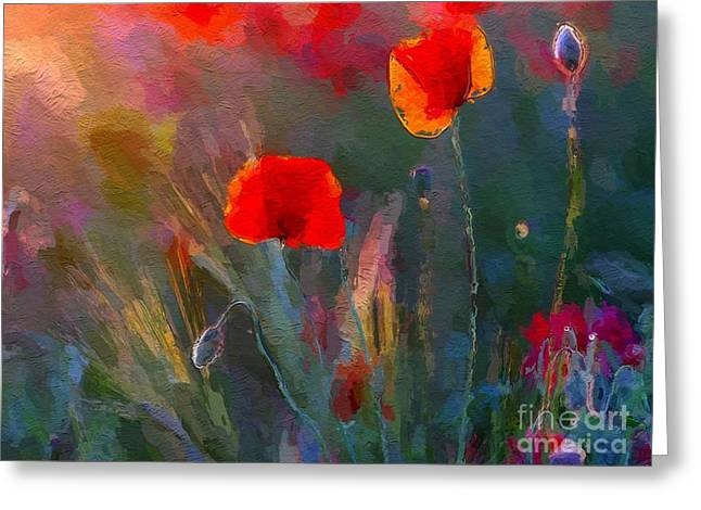 Growing Wild Greeting Card by Anthony Fishburne