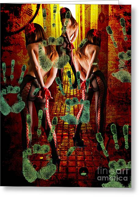 Grubby Littel Hands Enslave Greeting Card by Tammera Malicki-Wong