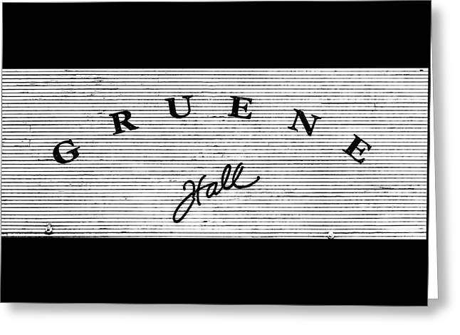 Gruene Hall Greeting Card by Stephen Stookey