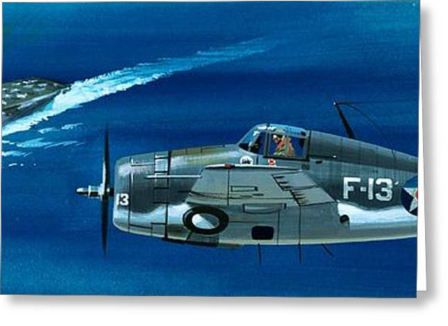 Wildcat Greeting Cards - Grumman F4RF-3 Wildcat Greeting Card by Wilf Hardy