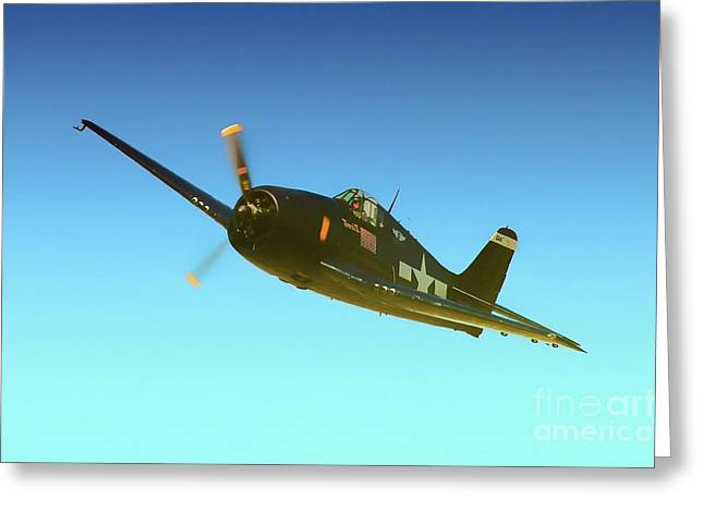 Grumman F6f Hellcat Minzi II Greeting Card by Gus McCrea