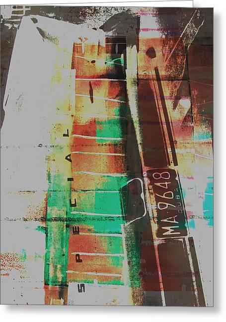 Warhol Paintings Greeting Cards - Grunge Greeting Card by David Studwell