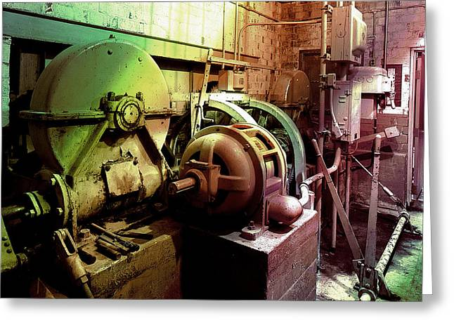 Grunge Hydroelectric Plant Greeting Card by Robert G Kernodle