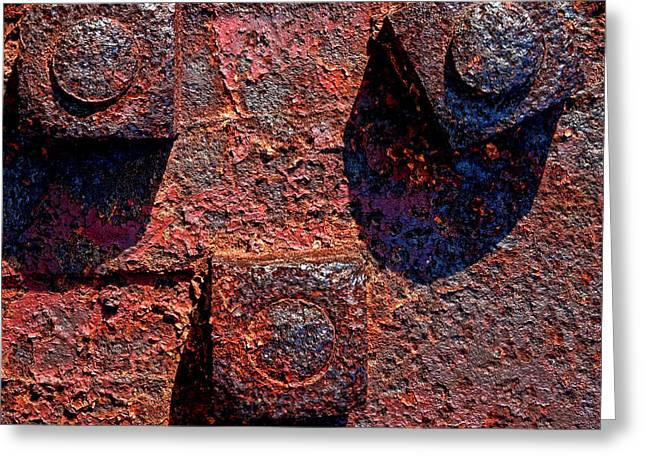 Corroded Greeting Cards - Grunging Away Greeting Card by Olivier Le Queinec