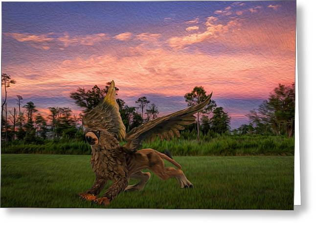 Layers Greeting Cards - Gryphon Greeting Card by Rob Sellers