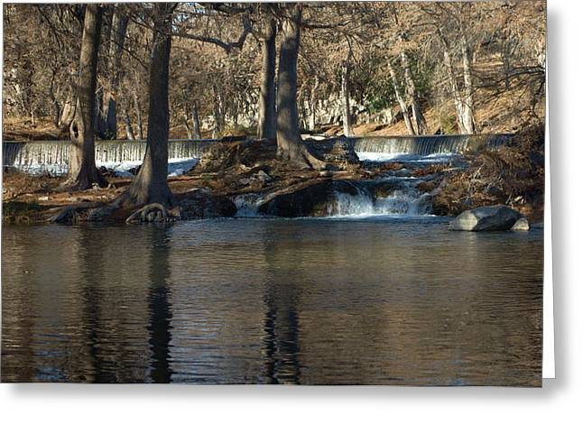 River Posters Greeting Cards - Guadalupe Overflows Greeting Card by Karen Musick