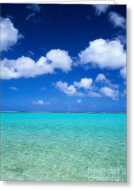 Ocean Art Photos Greeting Cards - Guam, Tumon Bay Greeting Card by Greg Vaughn - Printscapes