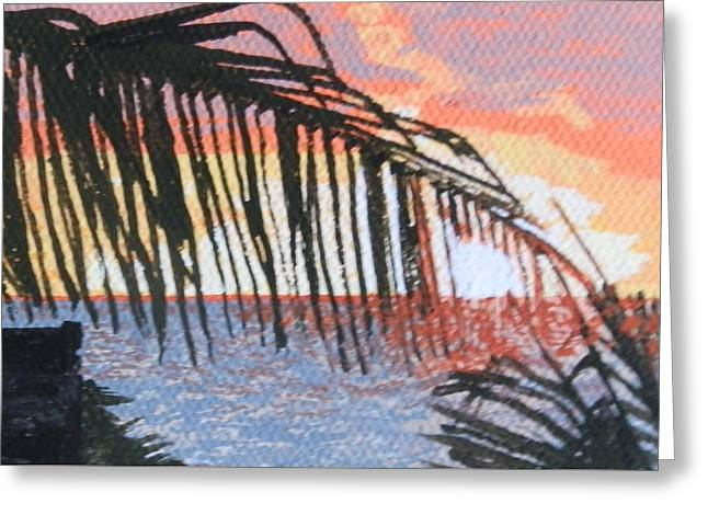 St Margaret Paintings Greeting Cards - Guana Bay sunrise Greeting Card by Margaret Brooks