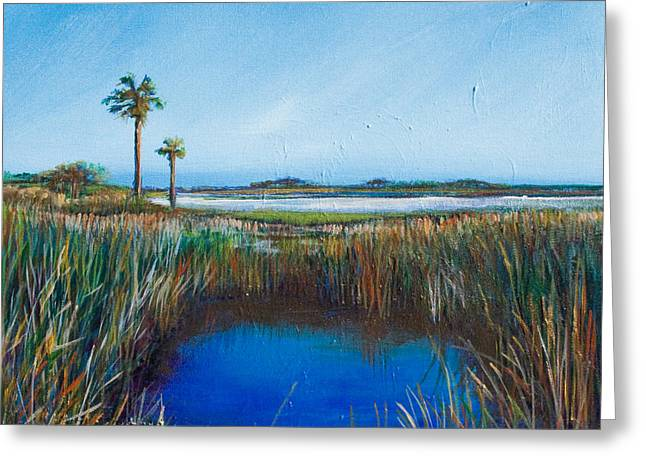 Guana River Lll Greeting Card by Michele Hollister - for Nancy Asbell