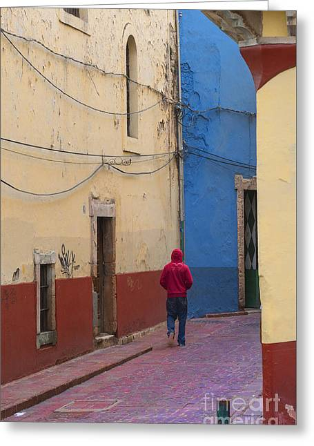 Colorful Buildings Greeting Cards - Guanajuato Greeting Card by Juli Scalzi