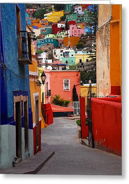 Guanajuato Lane Greeting Card by Skip Hunt