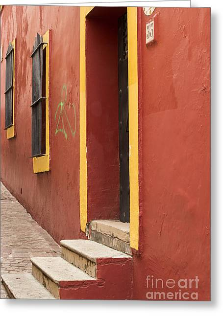Alleys Greeting Cards - Guanajuato Mexico Colorful Building Greeting Card by Juli Scalzi