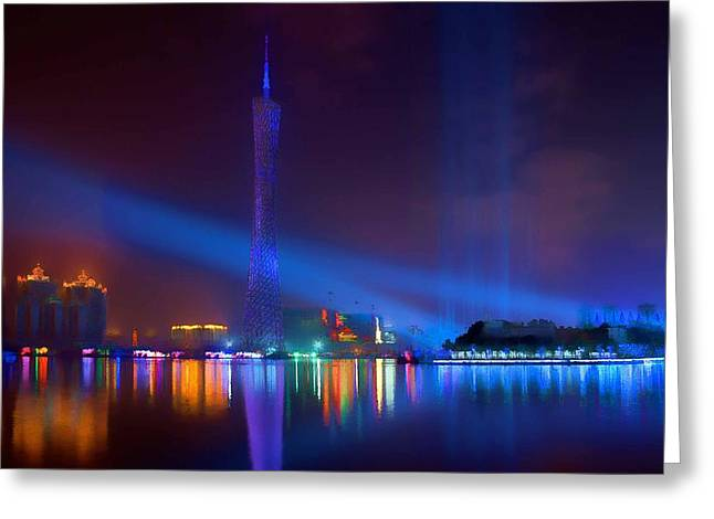Guangzhou Tv Tower 1 Greeting Card by Lanjee Chee