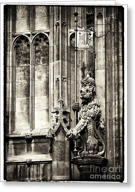 Victoria Johns Greeting Cards - Guard of Victoria Tower Greeting Card by John Rizzuto